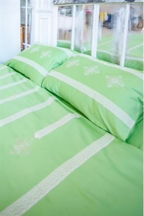 """Bed linen """"Waterfall green"""" - Unique design bed linen set made of 100% cotton satin"""
