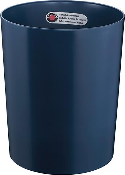 Z12018 - Sicherheitspapierkorb 24L mit Aluminium-Einsatz - TÜV-zertifiziert, blau