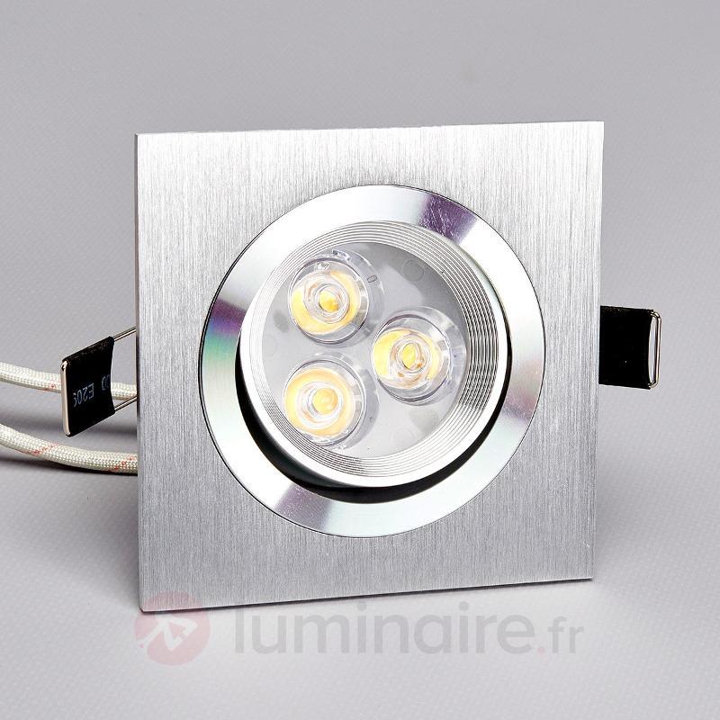 Tjark - Spot carré encastrable LED en aluminium - Spots encastrés LED