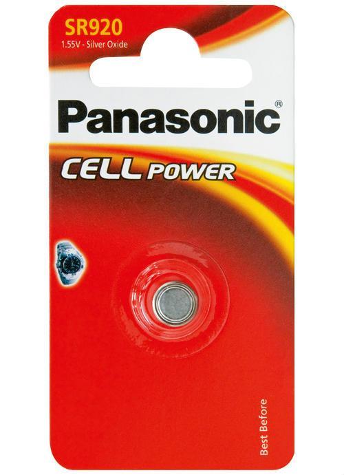 Microbatterie all'ossido d'argento SR920 - SR-920EL/1B | Blister da 1 microbatteria a bottone Panasonic