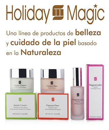 Cosméticos Holiday Magic - Productos enriquecidos con extractos de frutas.