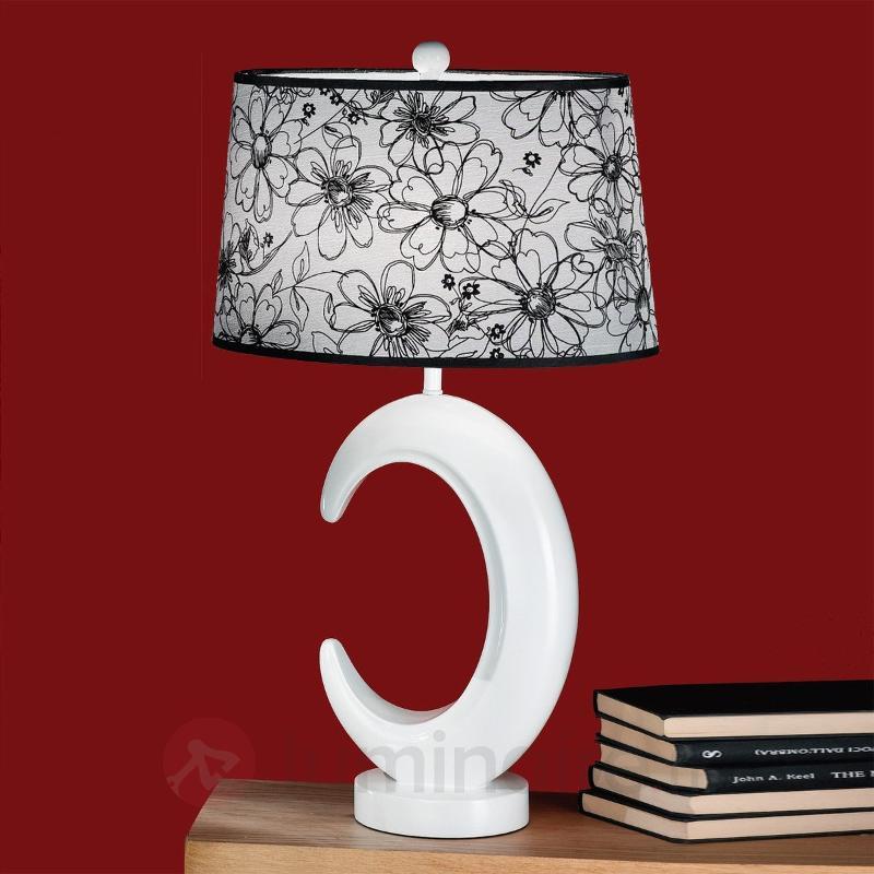 Lampe à poser Babette avec décor floral - Lampes à poser en tissu