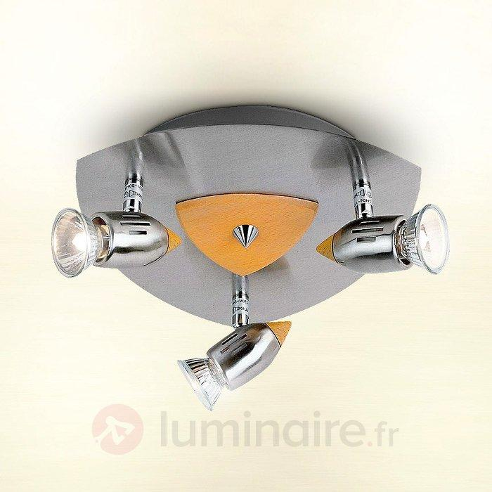 Plafonnier CATANIA à 3 lampes - Plafonniers chromés/nickel/inox