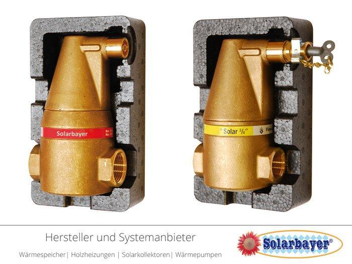 Solarbayer Luftabscheider  - für Heizungsanlagen & Solaranalgen