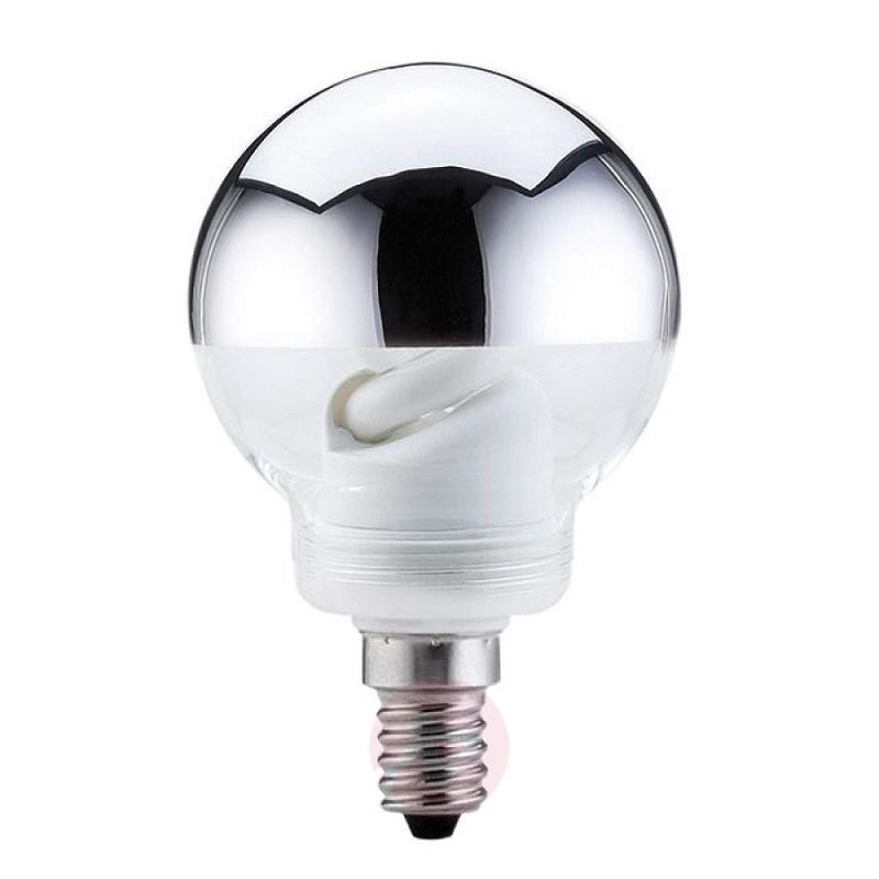 E14 7W energy saving bulb head mirror silver - light-bulbs