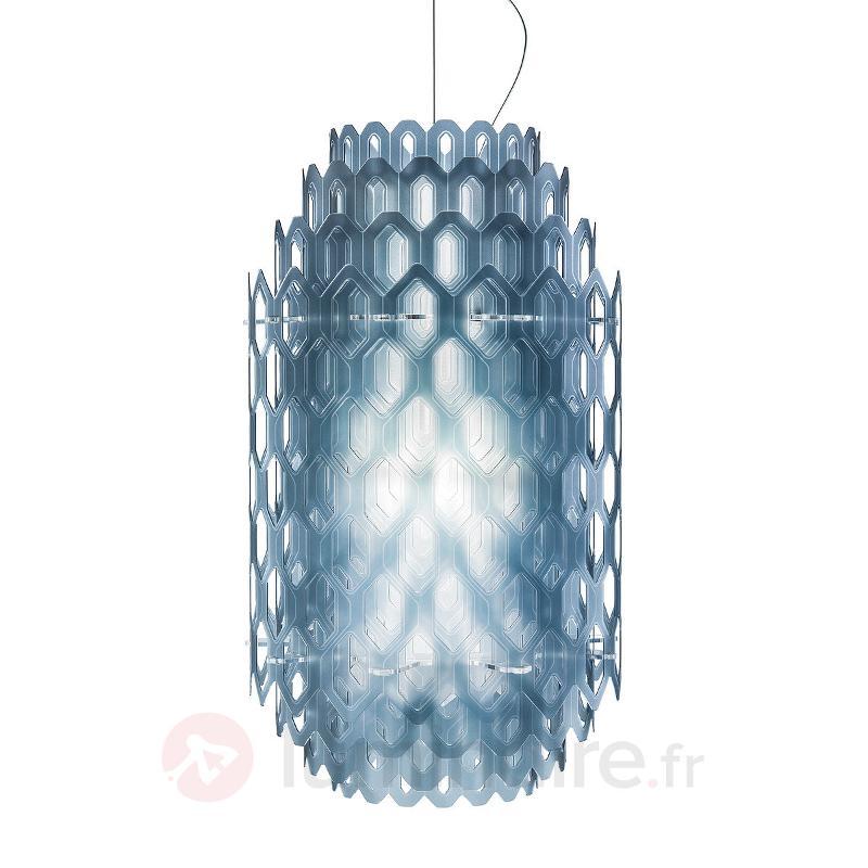 Suspension de designer multicouches Chantal, bleu - Suspensions design