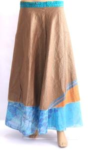 Reversible Wrap Skirt,Silk Saree Skirt,Tube Dress,