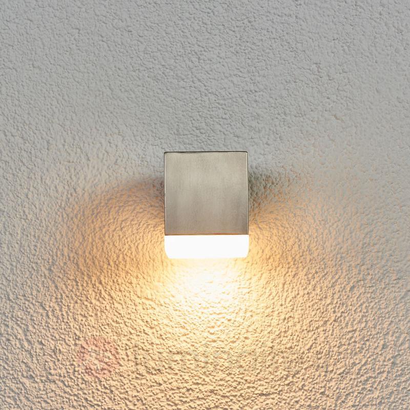 Applique extérieure rectangulaire inox Hedda LED - Appliques d'extérieur LED