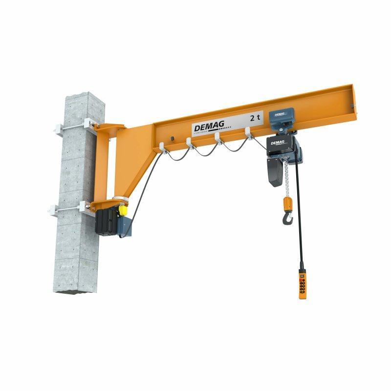 Demag Säulen- und Wandschwenkkrane - Umschwenken auf mehr Produktivität und Ergonomie - Säulen- und Wandschwenkkrane