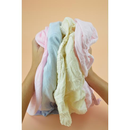 Chiffon jersey clair pastel tee-shirt coton carton... - Essuyage
