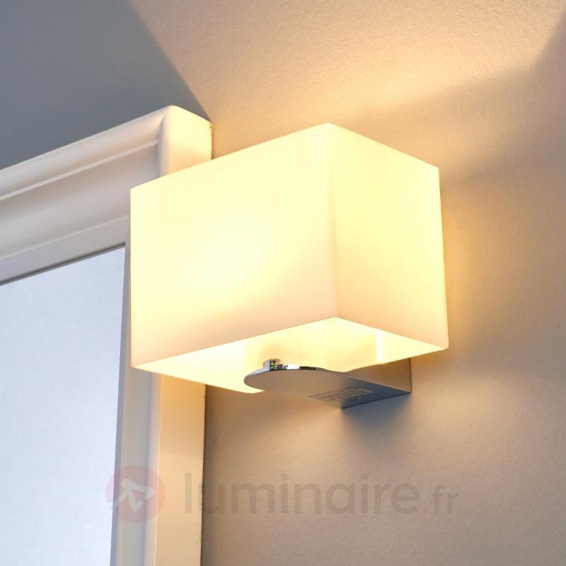 Applique LED de salle de bain en verre Annelie - Salle de bains et miroirs