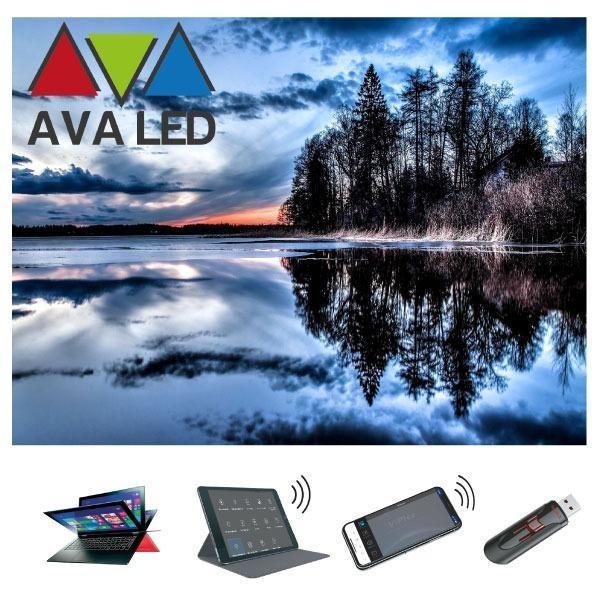 AVA LED -juliste - For AVM - Hotel - Restaurant info