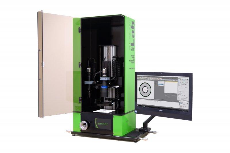 Cable measuring device VCPLab - Camera-based system for measuring cable geometries from insulations and sheaths