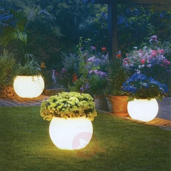 Illuminated planter, highest quality, white - Outdoor Decorative Lights