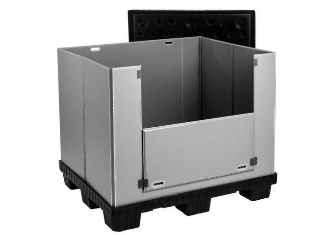 Large Folding Container: Mega-Pack 1000 - Large Folding Container: Mega-Pack 1000, 1200 x 1000 x 1000 mm