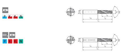 Forets aléseurs carbure monobloc - Outils carbure monobloc