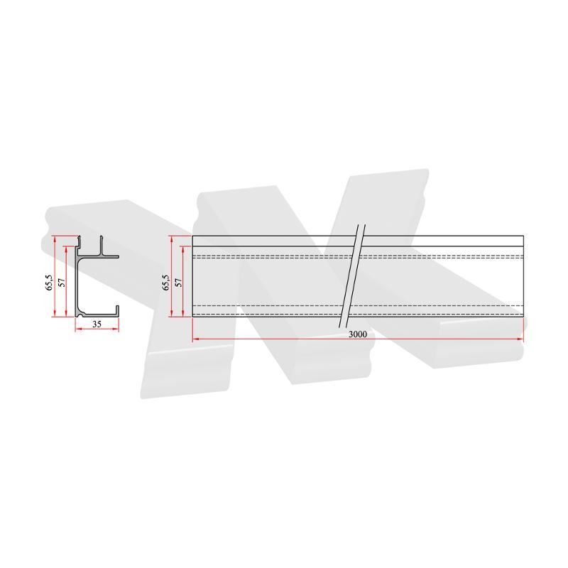 Cover profile to RKL0500 - Kraus Railing Lite Profiles