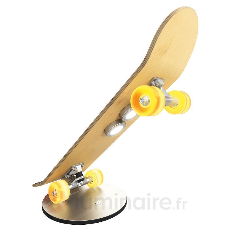 Lampe à poser en skateboard Light Cruiser avec LED - Lampes à poser LED