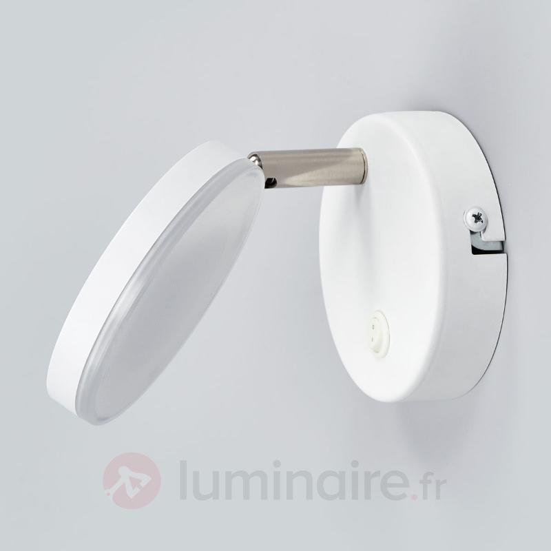 Applique LED blanche Milow avec interrupteur - Appliques LED