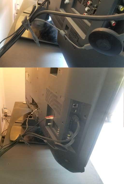 Attache câble télévsion - élastique 140mm par 10 - Attache élastique