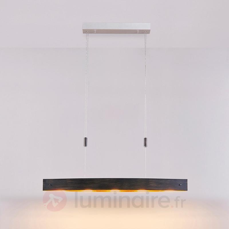 Suspension LED noire Lio avec motif doré - Cuisine et salle à manger