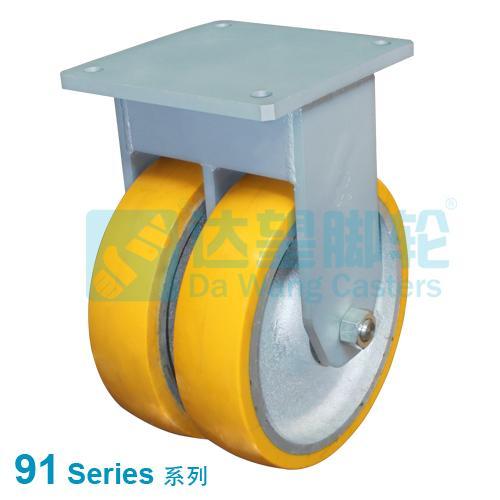 Extra Heavy Duty Twin Wheel Insutrial Castor, loading 10tons