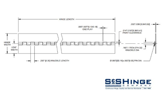 Hinges - 400 Series - CAD files - 399px96