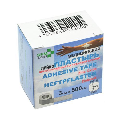 SFM Zink-Oxid Heftpflaster mit Plastikkern - in Box 3cm x 5.0m (1)