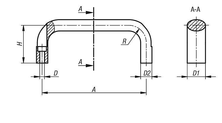 Maniglie a staffa configurate - KK002