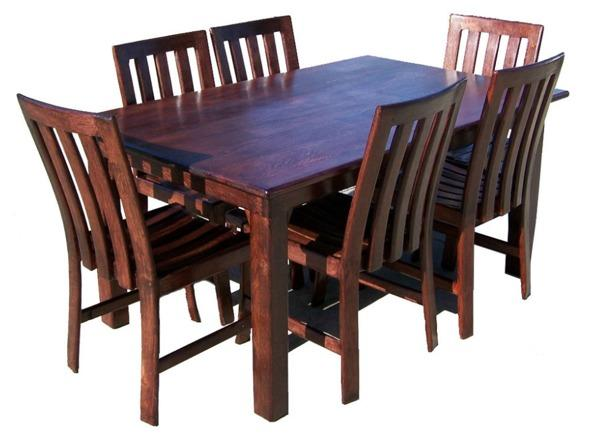 Dining Room Tables - 6 Seater Dark Dining Room Table