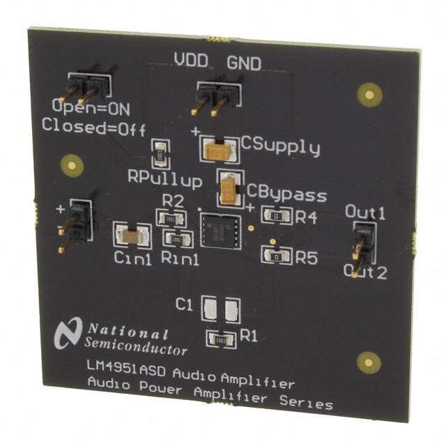 BOARD EVAL FOR LM4951A - Texas Instruments LM4951ASDBD/NOPB