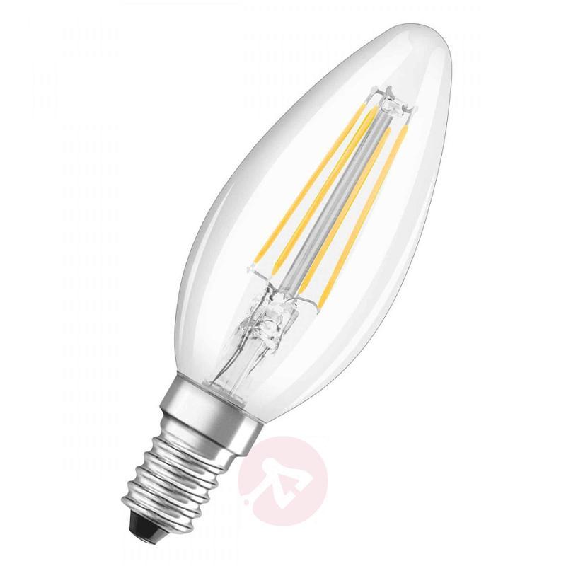 E14 4 W 827 filament LED candle bulb, set of two - light-bulbs