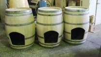 Barrel Dog Kennel With Cradle - null