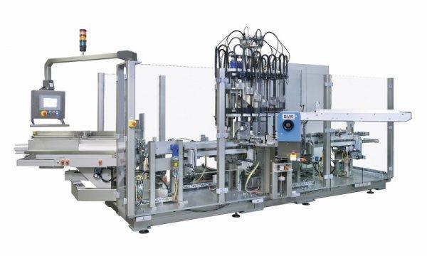 Cartoning Machine OPTIMA CMF - Cartoning Machine OPTIMA CMF: Gluing and closing of box blanks