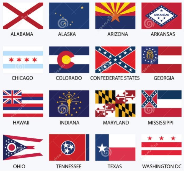 Bandiere Stati Uniti d'America per abbigliamento ricamate  - Bandiere da cucire o termoadesivare su abbigliamento