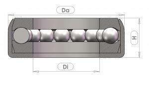 DLG100 eksenel sabit bilyalı rulman -  Eksenel bilyalı rulmanlar