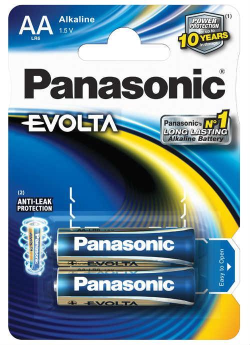 Batterie stilo Evolta 2 pz - LR6EGE/2BP | Blister da 2 pile AA Panasonic