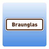 Wertstoffzeichen Braunglas, umrandet - Größe: 297x100 mm 400x130 mm 297x100 mm