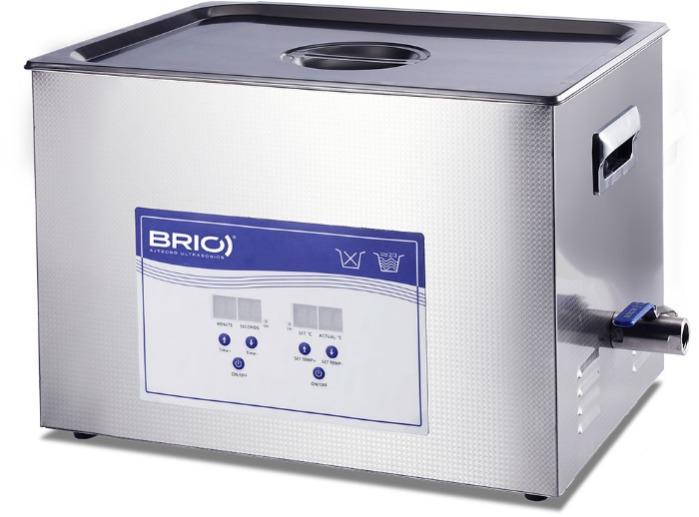 BR-30 LAB - Máquina de limpieza por ultrasonidos manual de 30 L