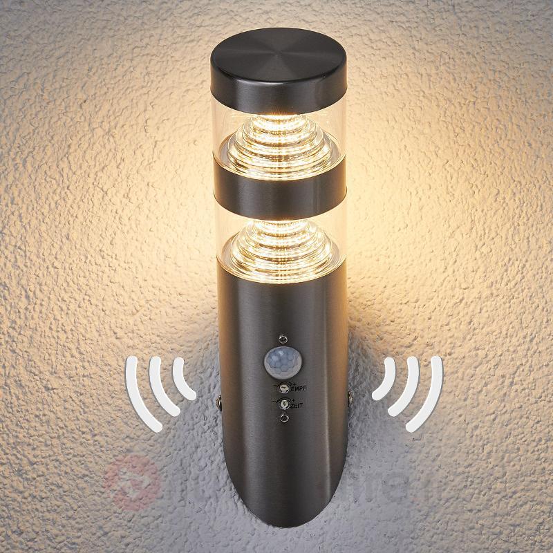 Applique d'extérieur LED Lanea à détecteur de mvt - Appliques d'extérieur avec détecteur