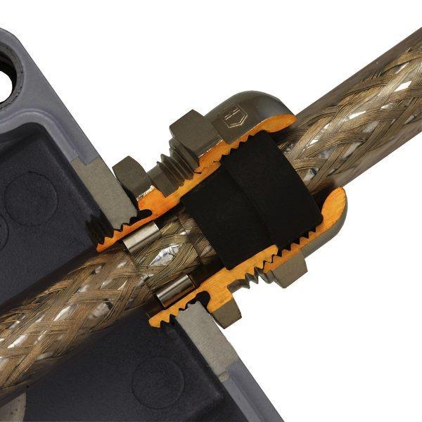 PERFECT EMC pressacavi in ottone metrico - PERFECT EMC pressacavi in ottone nichelato con filetto metrico M12 - M63