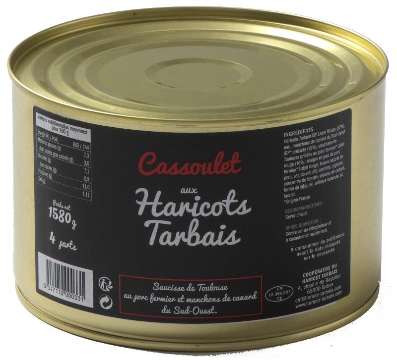 Cassoulet aux Haricots Tarbais 1580 g - Epicerie salée