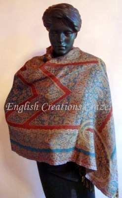 Wool kani Jacquard Scarves - Wool kani Jacquard Scarves