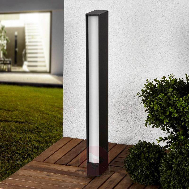 Square LED path light Holly in graphite grey - Path and Bollard Lights
