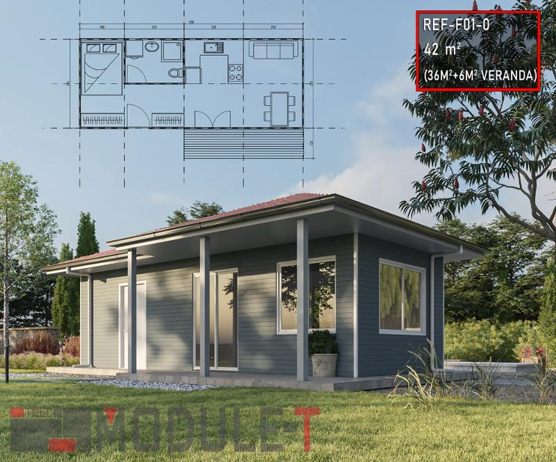One Bedroom Prefabricated House - null