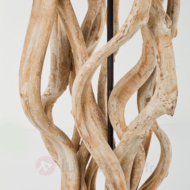 Lampadaire LED Scultra en bois naturel - Lampadaires en bois