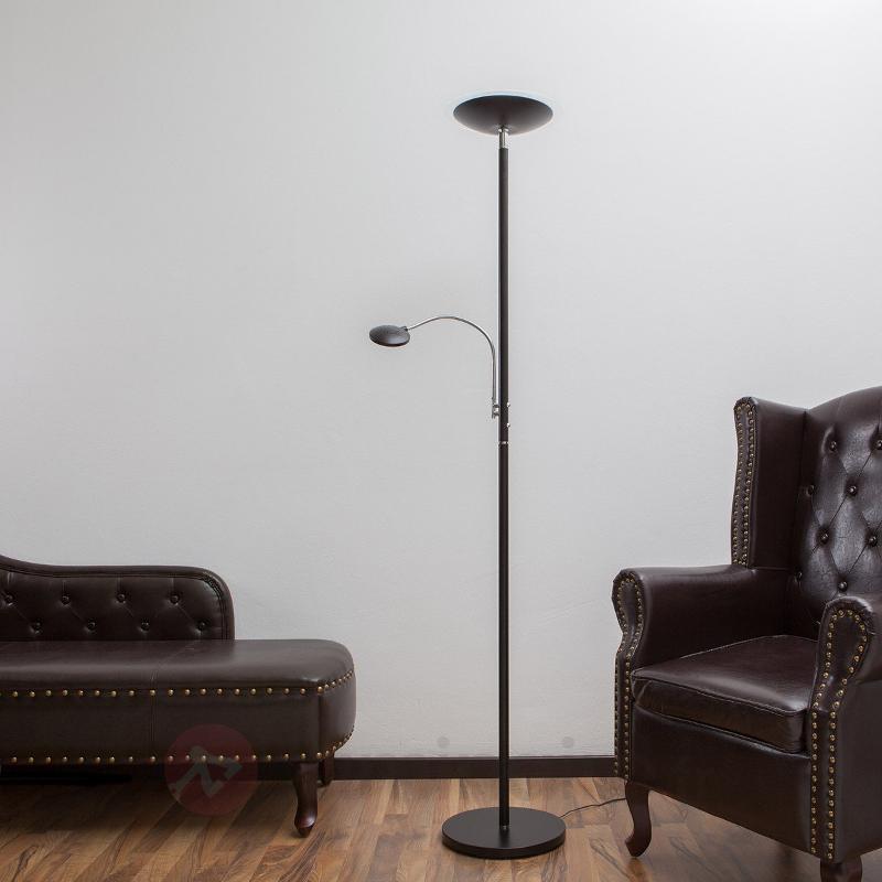 Lampadaire à éclairage indirect LED à liseuse noir - Lampadaires LED à éclairage indirect