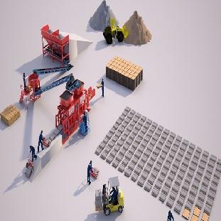 Оборудование для производства брусчатки - Полуавтоматическая Машина Prs 602 Мини Завод  Для Производства Тротуарной Плитки
