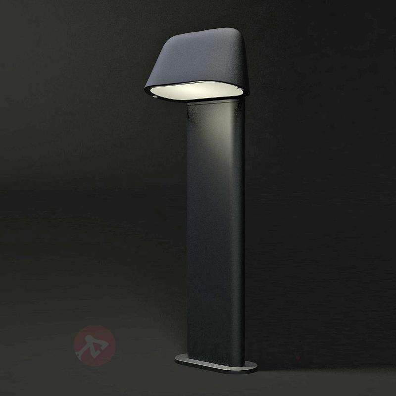 Borne lumineuse moderne Sentinel gris foncé - Tous les luminaires pour socle