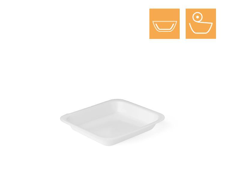 Menu tray 601, 1-comp, laminated - EPS Sealing trays